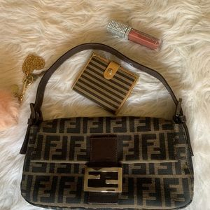Authentic vintage Fendi wallet, card case
